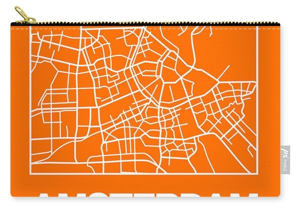 Orange Map Of Amsterdam Carry-all Pouch