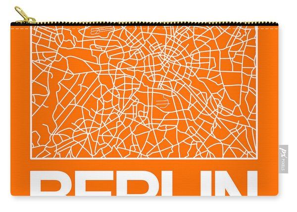 Orange Map Of Berlin Carry-all Pouch