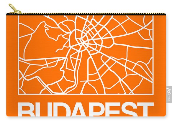 Orange Map Of Budapest Carry-all Pouch