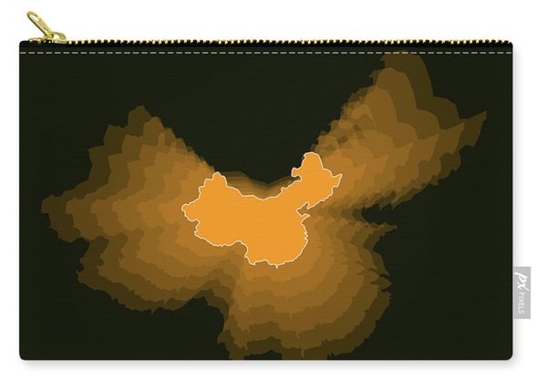 Orange Map Of China  Carry-all Pouch