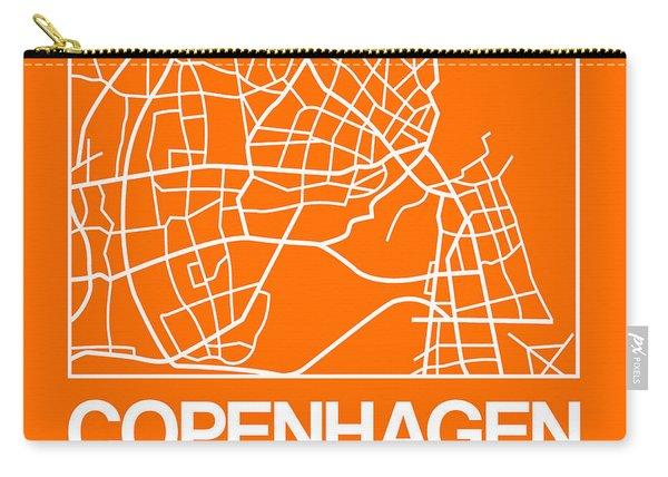 Orange Map Of Copenhagen Carry-all Pouch