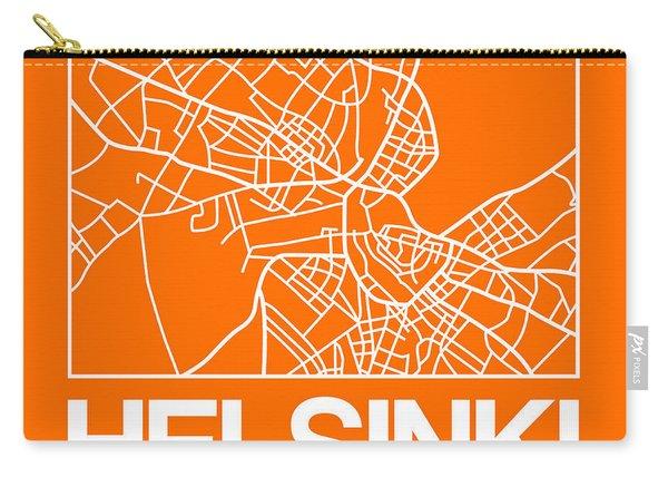 Orange Map Of Helsinki Carry-all Pouch