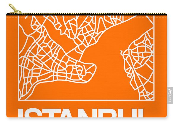 Orange Map Of Istanbul Carry-all Pouch
