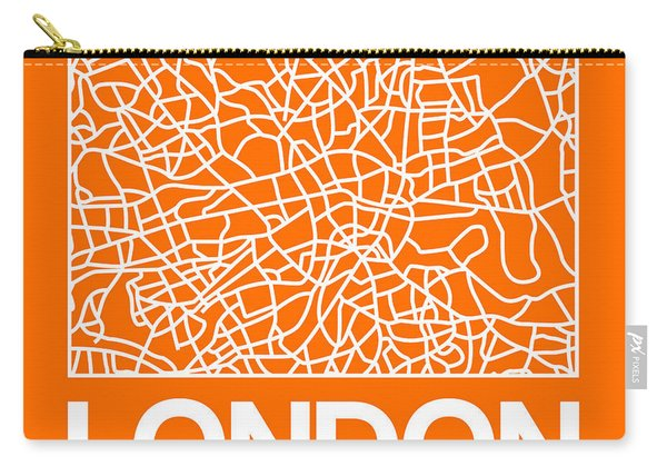 Orange Map Of London Carry-all Pouch