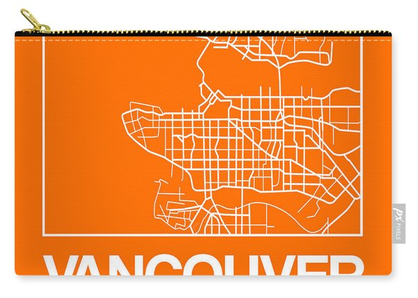 Orange Map Of Vancouver Carry-all Pouch