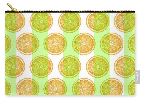 Orange Slice Pattern 2 - Tropical Pattern - Tropical Print - Lemon - Orange - Fruit - Tangerine Carry-all Pouch