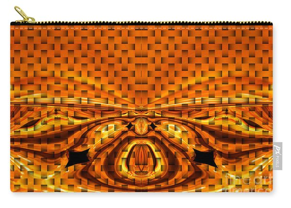 Orange Weave Craziness Carry-all Pouch
