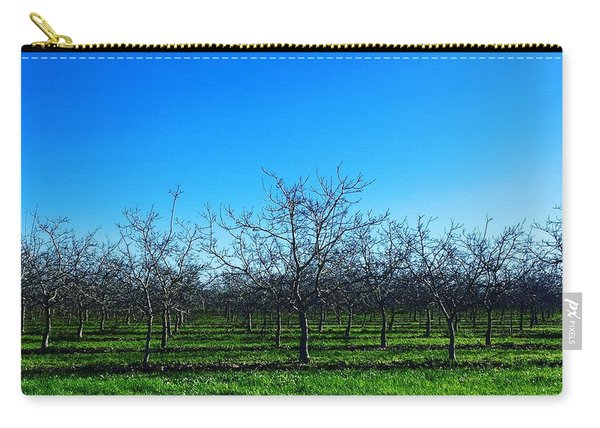 Orchard Trees In Blue Carry-all Pouch