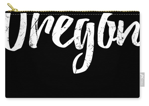 Carry-all Pouch featuring the digital art Oregon by Flippin Sweet Gear