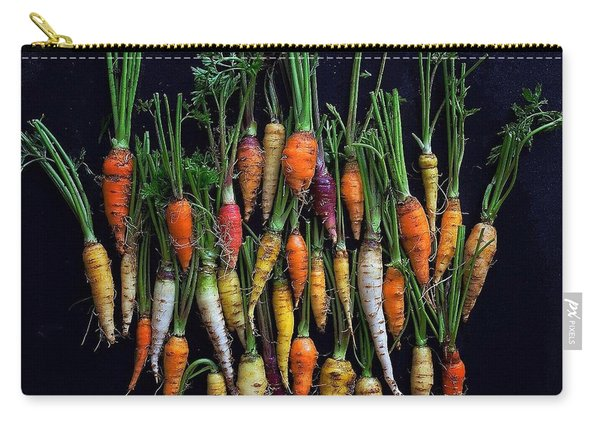 Organic Rainbow Carrots Carry-all Pouch