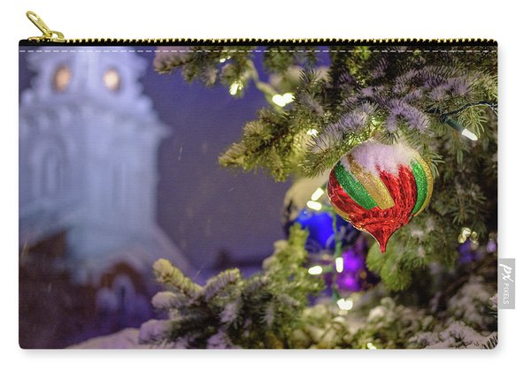 Carry-all Pouch featuring the photograph Ornament, Market Square Christmas Tree by Jeff Sinon