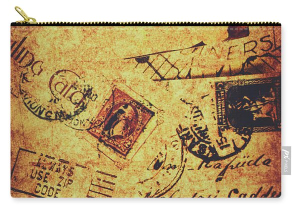 Ornate Postal Grunge Carry-all Pouch