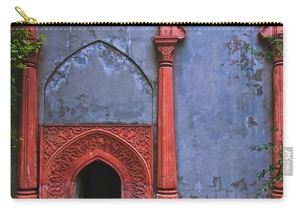 Ornate Red Wall Carry-all Pouch
