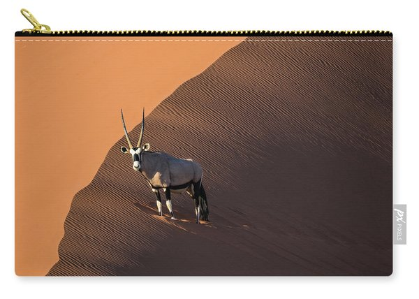 Oryx On The Edge, Namibia Carry-all Pouch