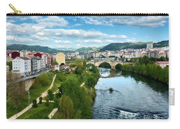 Ourense And The Roman Bridge From The Millennium Bridge Carry-all Pouch