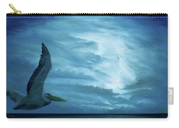 Carry-all Pouch featuring the painting Out Of The Blue by Kevin Daly