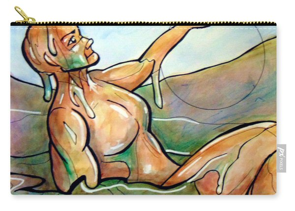 Carry-all Pouch featuring the painting Out Of The Clay Mire by Loretta Nash