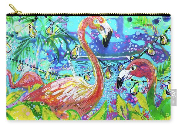 Outdoor Flamingo Party Carry-all Pouch