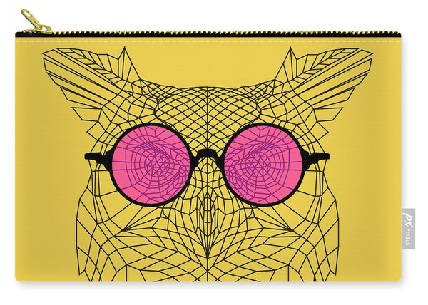 Owl In Pink Glasses Carry-all Pouch