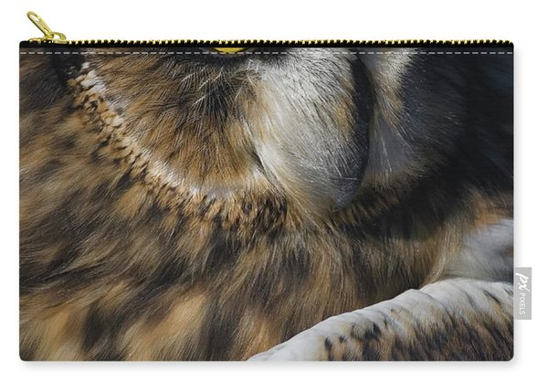 Owl Strikes A Pose Carry-all Pouch