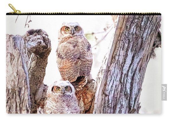 Owl Trio Standing Guard Carry-all Pouch