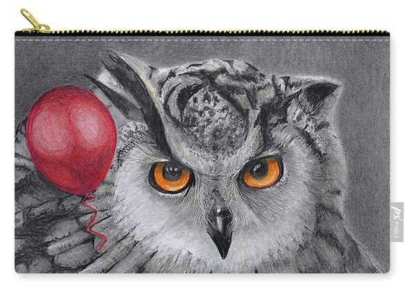 Owl With The Red Balloon Carry-all Pouch