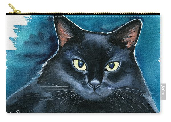 Ozzy Black Cat Painting Carry-all Pouch