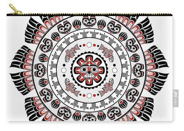 Pacific Northwest Native American Art Mandala Carry-all Pouch