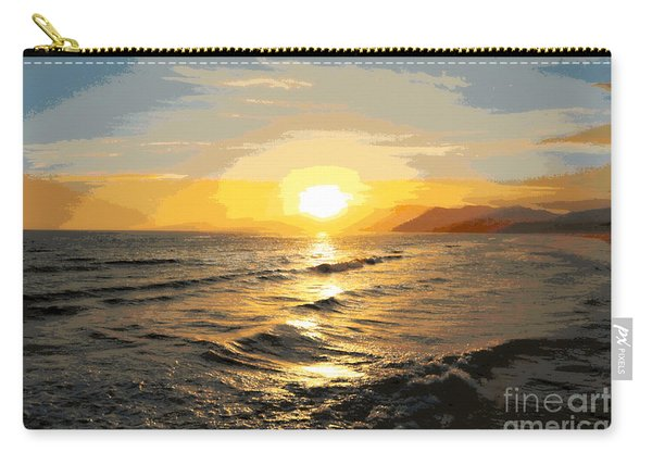 Pacific Sunset Impressionism, Santa Monica, California Carry-all Pouch