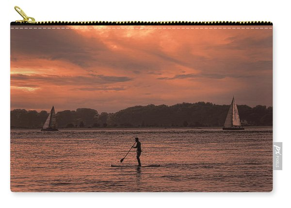 Paddleboarding On The Great Peconic Bay Carry-all Pouch
