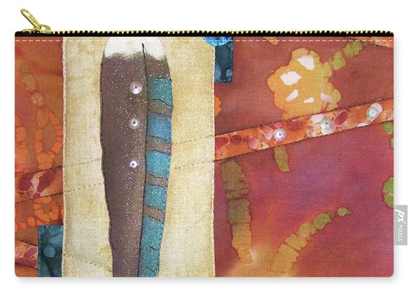 Painted Feather Carry-all Pouch