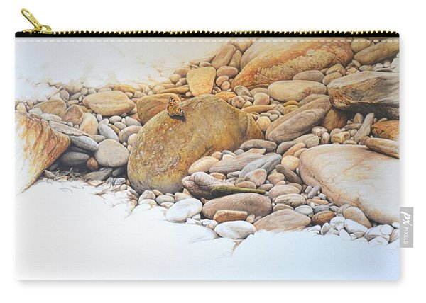 Carry-all Pouch featuring the painting Painted Lady Butterfly by Alan M Hunt
