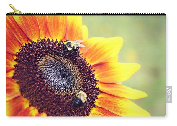 Carry-all Pouch featuring the photograph Painted Sun by Candice Trimble