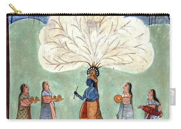 Painting Fresco Of Krishna In The Women's Zenana Carry-all Pouch