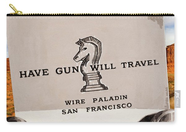 Paladin - Have Gun Will Travel - Monument Valley 3 Carry-all Pouch