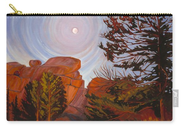 Pale Moon Over Vedauwoo Carry-all Pouch