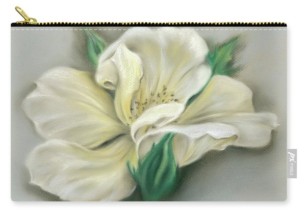 Pale Yellow Rose And Green Rosebuds Carry-all Pouch
