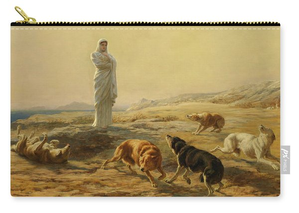 Pallas Athena And The Herdsman's Dogs, 1876 Carry-all Pouch