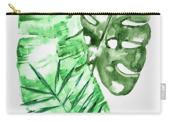 Palm Leaves-banana, Coconut, Monstera Carry-all Pouch
