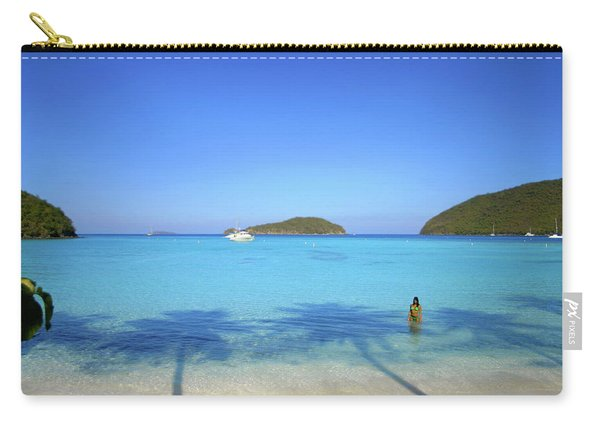 Palm Shadows On The Atlantic Carry-all Pouch