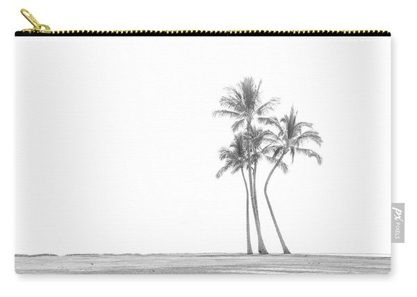 Palm Tree Cluster In Black And White Carry-all Pouch
