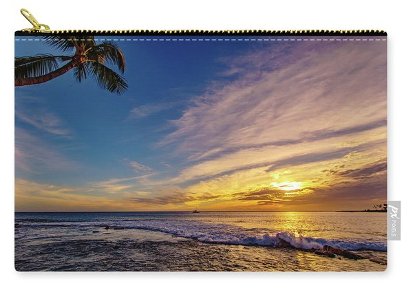 Palm Wave Sunset Carry-all Pouch