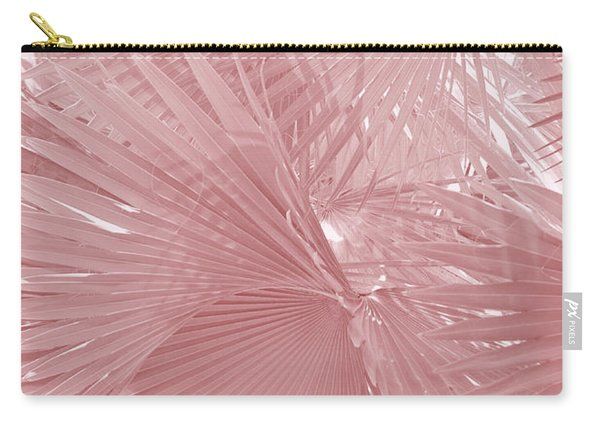 Palmetto Leaves In Pink Carry-all Pouch