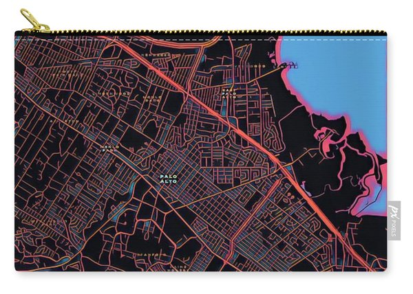 Palo Alto City Map Carry-all Pouch