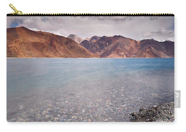 Carry-all Pouch featuring the photograph Pangong Tso by Whitney Goodey