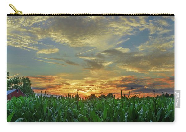 Panoramic Cornfield Sunset Carry-all Pouch