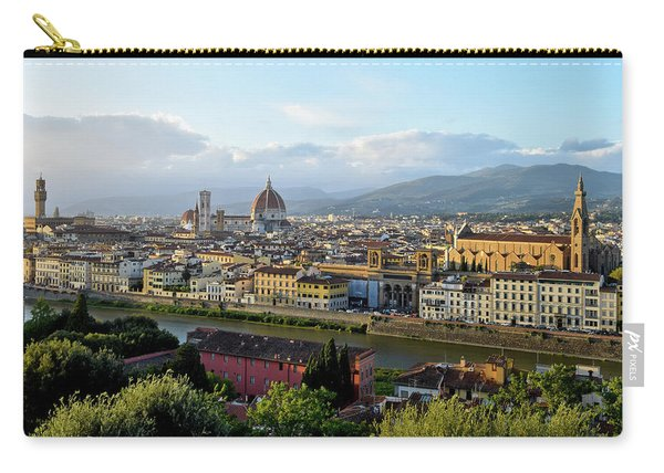 Panoramic View Of Florence Before Sunset In The Autumn. Carry-all Pouch