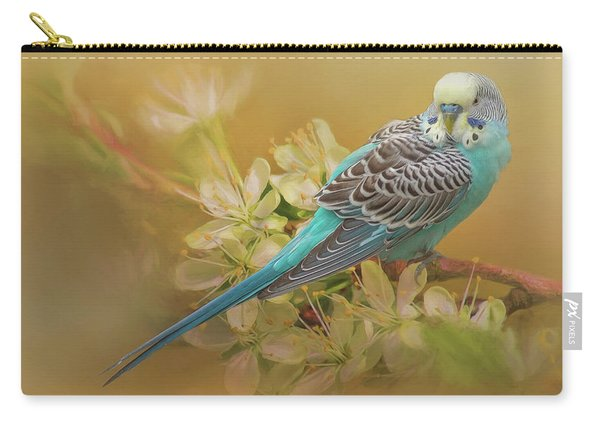 Parakeet Sitting On A Limb Carry-all Pouch