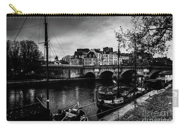 Paris At Night - Seine River Towards Pont Neuf Carry-all Pouch