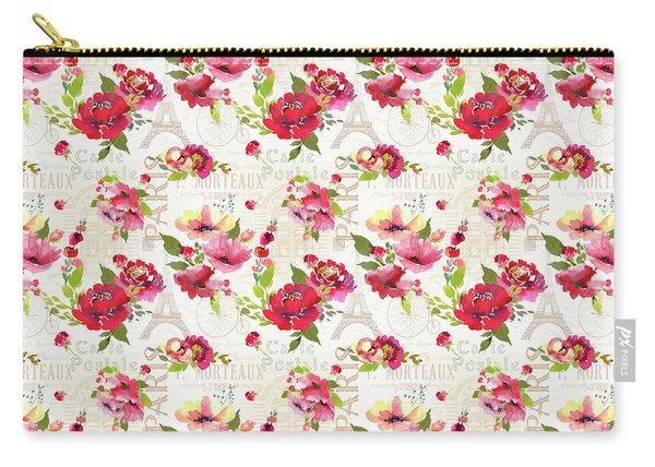 Paris Blossoms C Carry-all Pouch